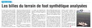 Les billes du terrain de foot synthétique analysées