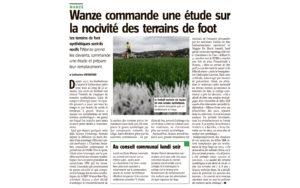Wanze commande une étude sur la nocivité des terrains de foot